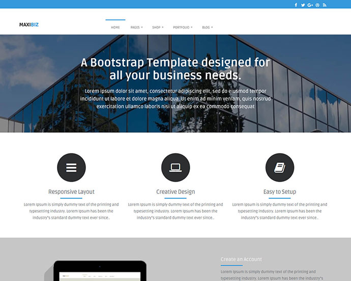 51 Awesome Free CSS HTML5 Website Design Templates