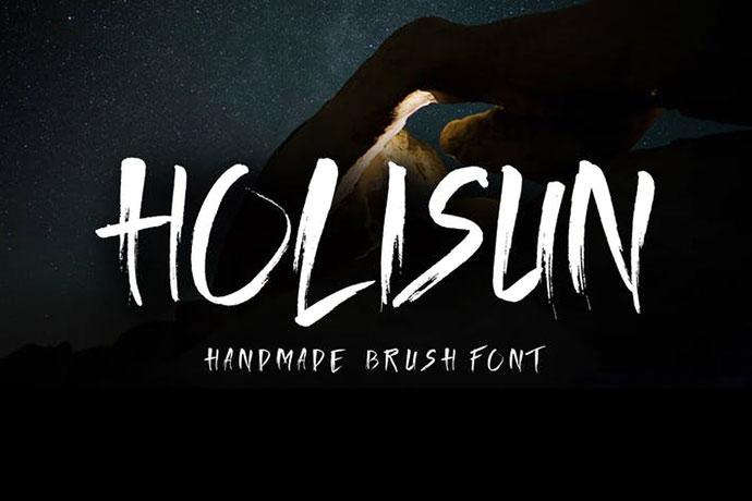 Holisun - Handmade BrushFont
