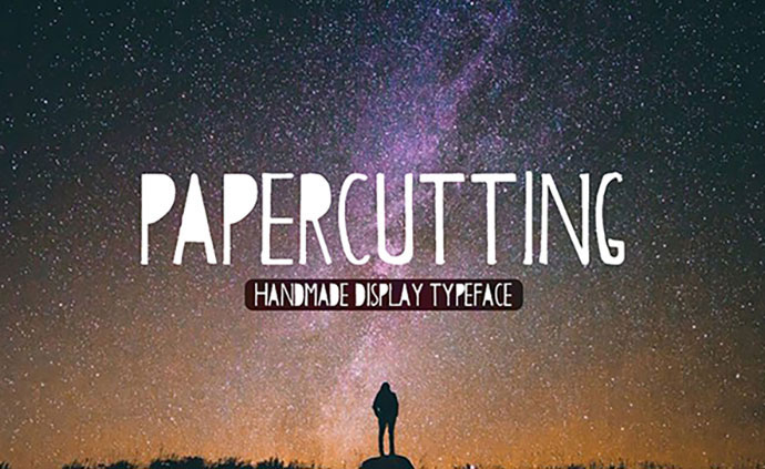 Papercutting Typeface