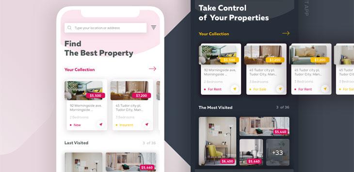 45 Real Estate Web & Mobile App UI Designs