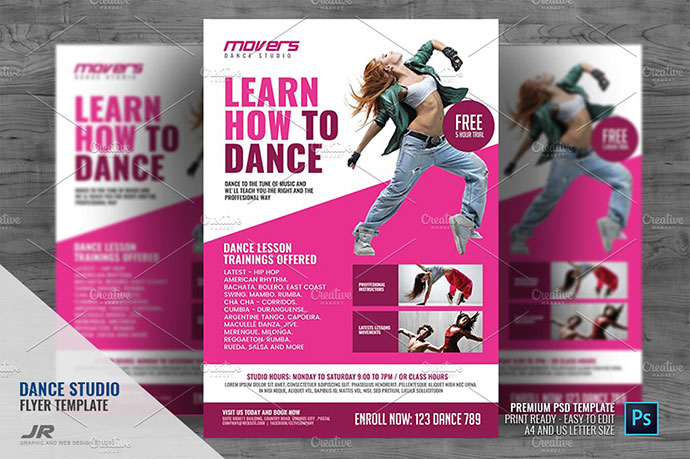 20 striking psd dance flyer templates web graphic design bashooka