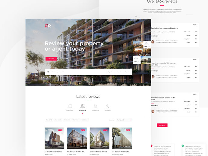 Real Estate Review website redesign