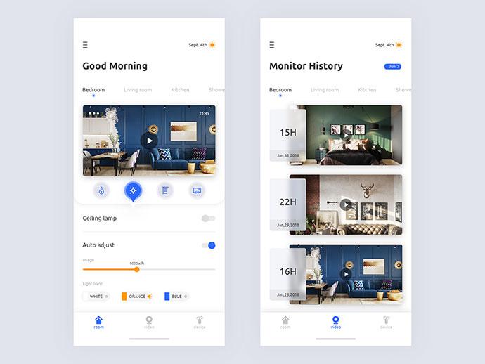 Smart Home System App Concept