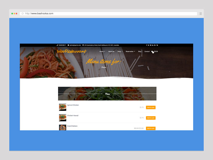 WooRestaurant | Woocommerce Restaurant