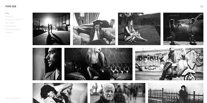 Bow - Clean Photography Portfolio Theme