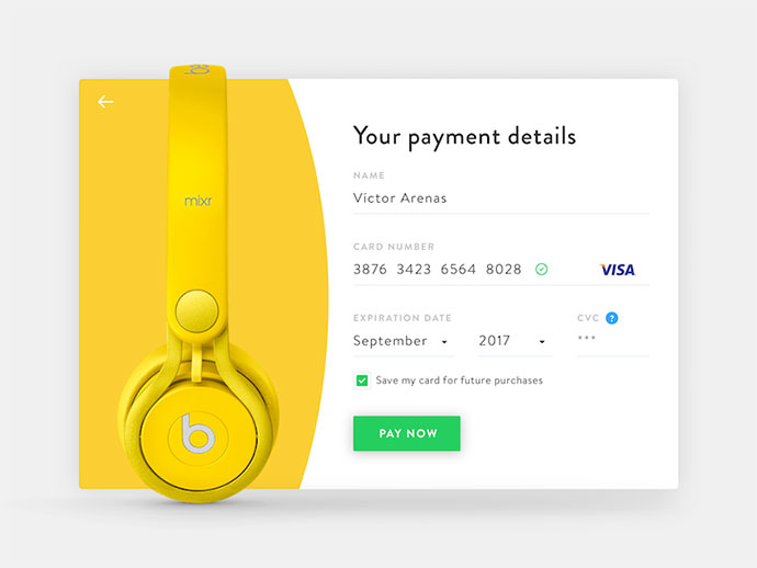 Daily UI 002 - Credit Card