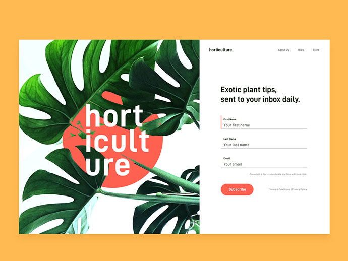 Horticulture Signup Form