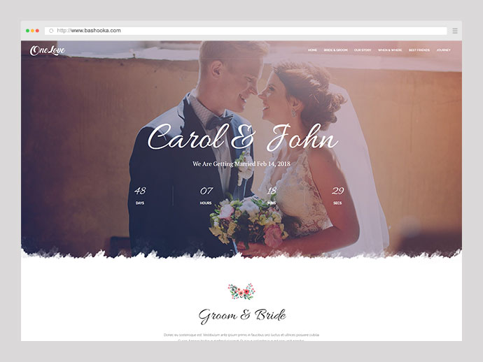 OneLove - The Elegant & Clean Multipurpose Wedding WordPress Theme