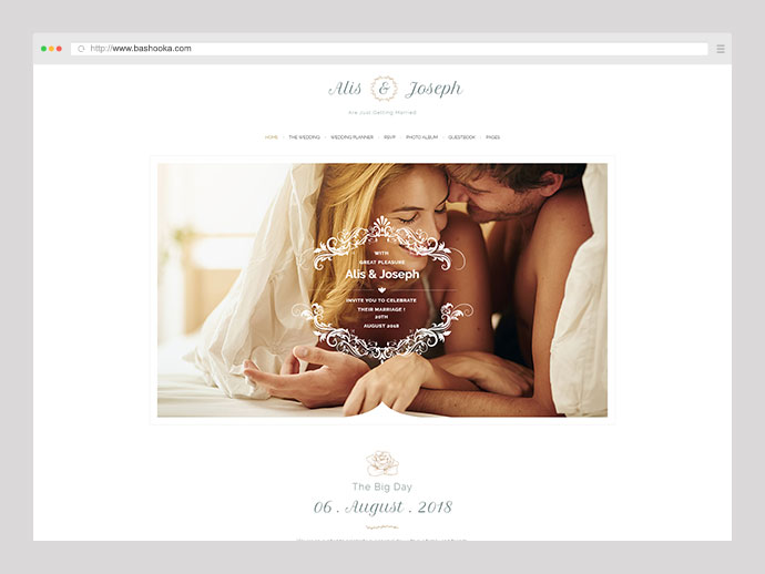 Alis - Wedding & Wedding Planner WordPress