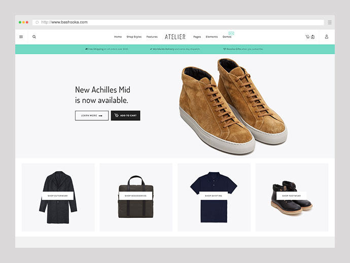 Atelier - Creative Multi-Purpose eCommerce Theme