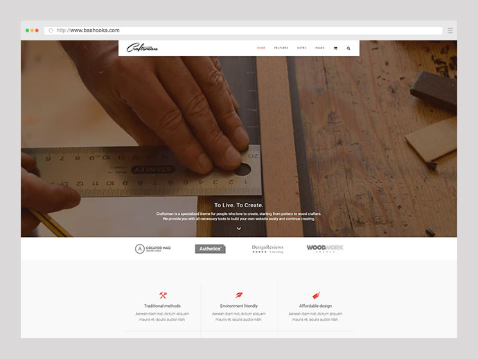 Craftsman | WordPress Craftsmanship Theme