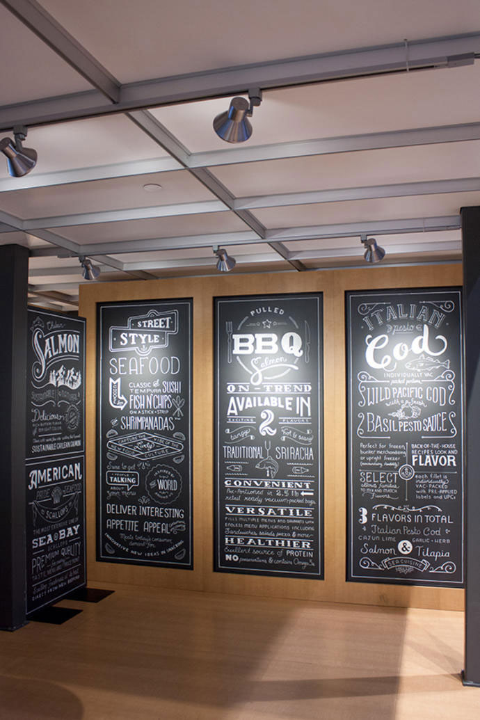Seafood Chalk Lettering