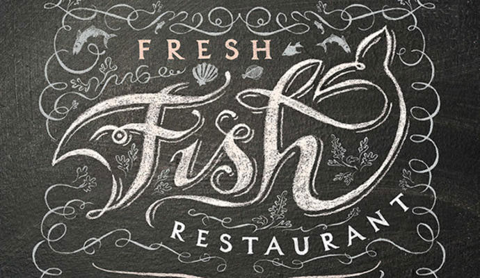 Restaurant chalkboard sign