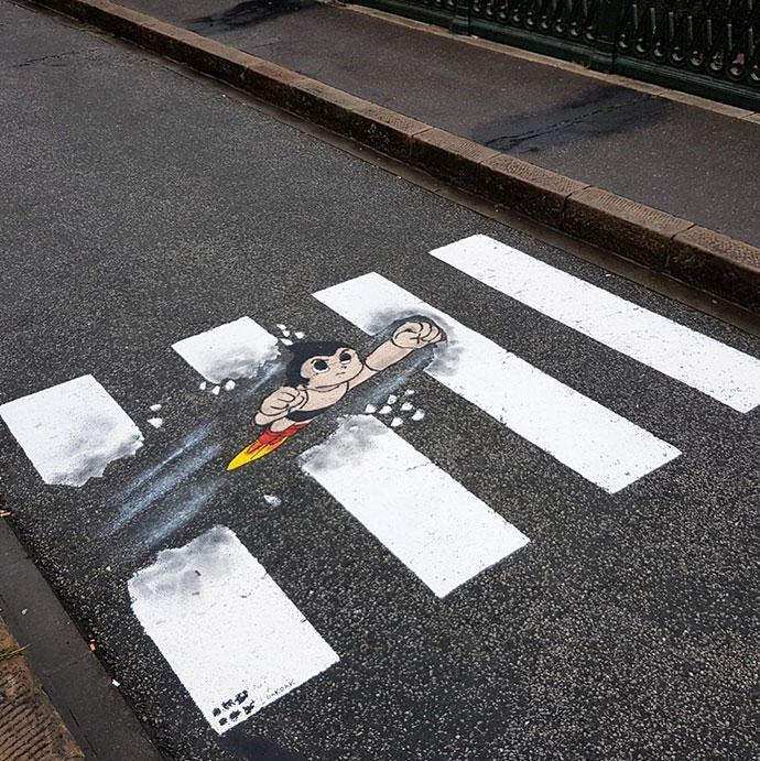 Astroboy VS pedestrian crossing