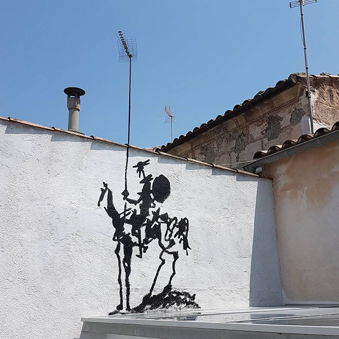 The modern Don Quichotte.