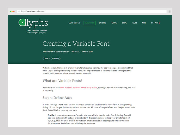 Creating a Variable Font
