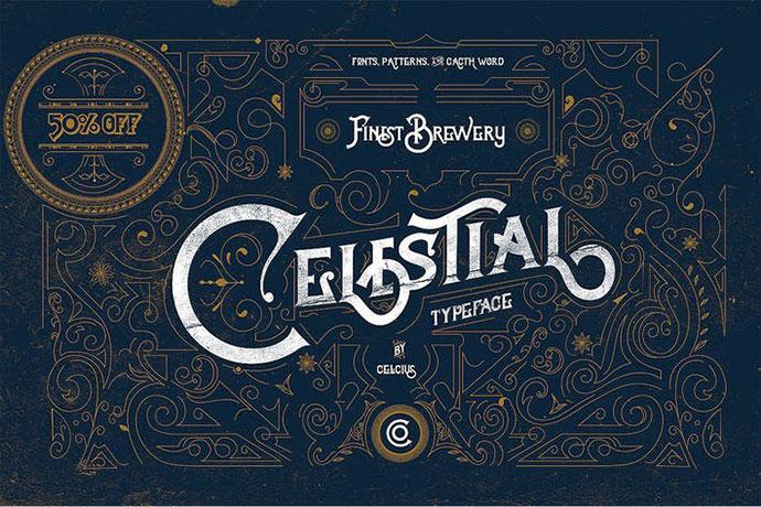 Celestial Vintage type