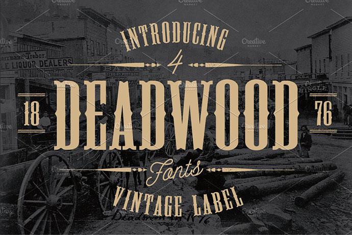 Deadwood Vintage Typeface with Bonus