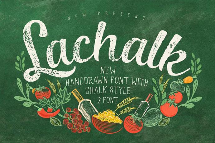 LaChalk Typeface + Extras