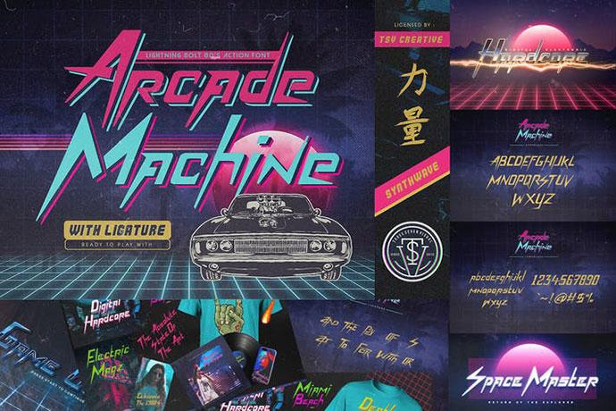 Arcade Machine 80s Retro Font