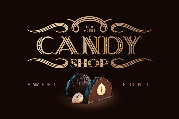 Candy Shop font with bonus