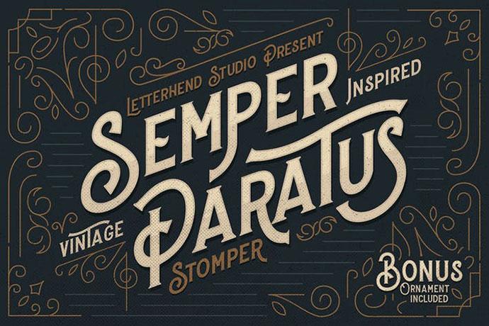 Stomper - A Vintage Display Font