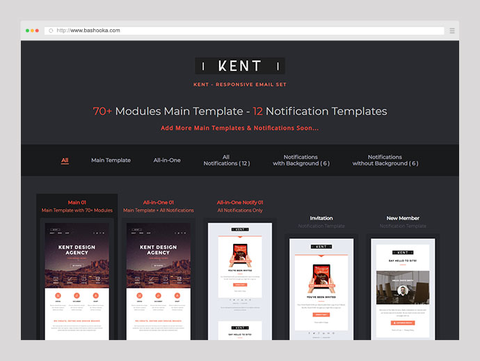 Kent - Responsive Email Set + StampReady Online Builder