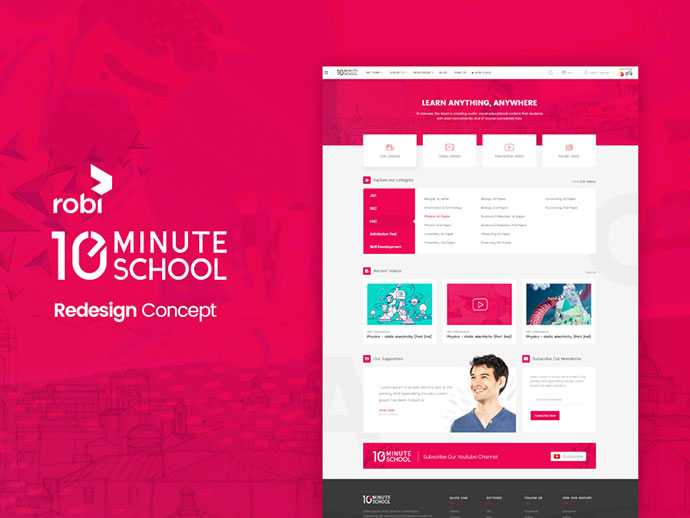 10 minute school Website Redesign Concept