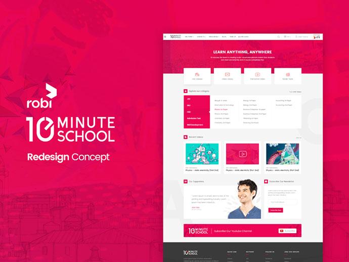 10 minute school Website Redesign Concept