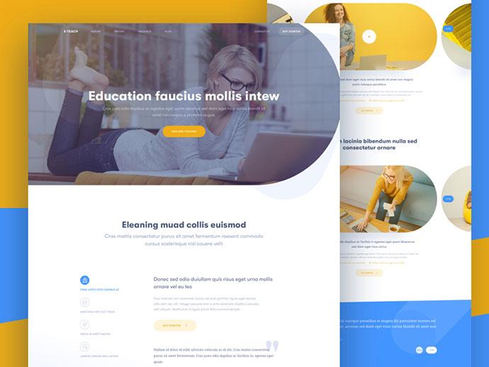 E-Teach Landing page