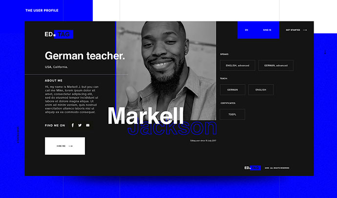 Personal page for teachers