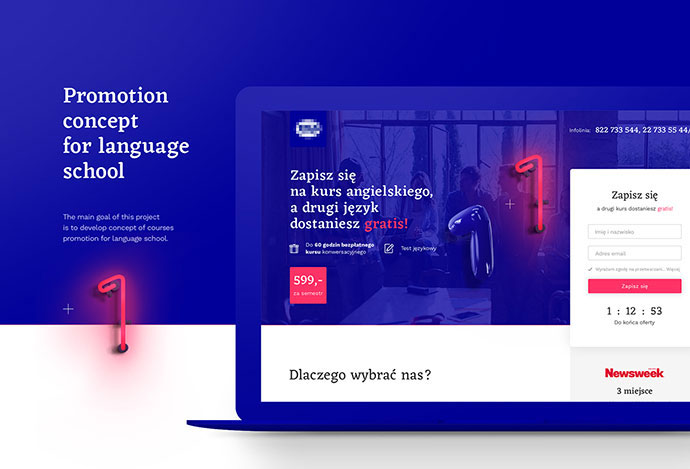 Promotion concept for language school