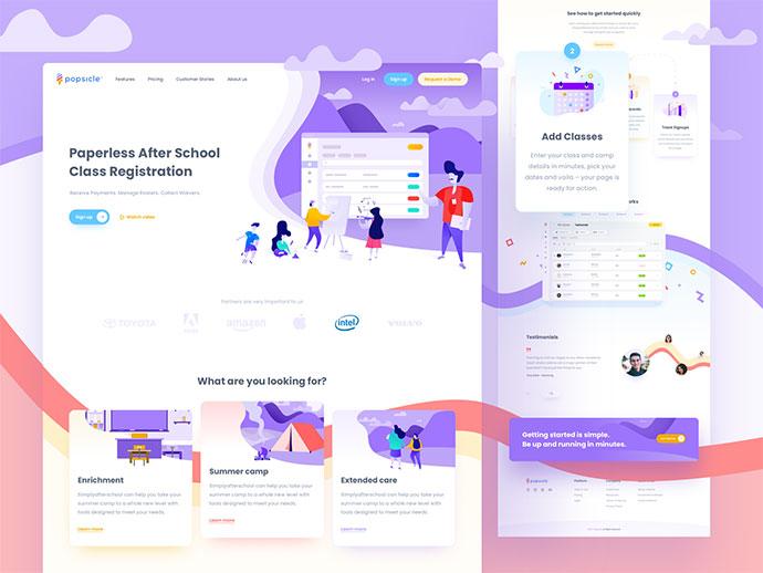 Landing Page - School Software