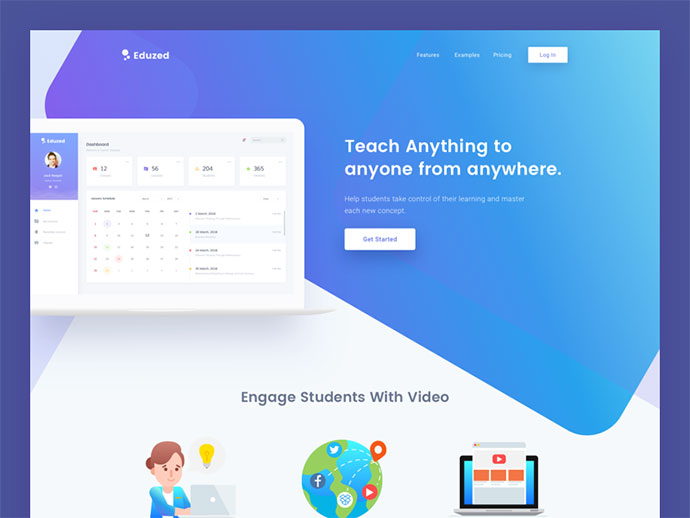Education Platform Landing Page