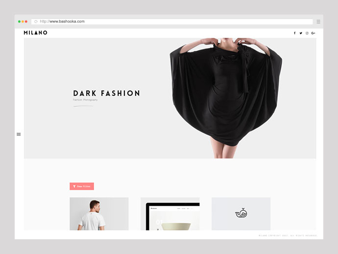 Milano | Creative Minimal Portfolio & Photography WordPress Theme