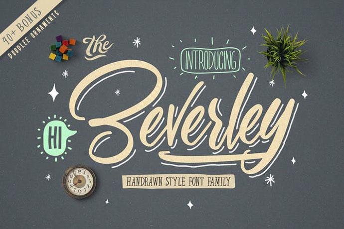 Beverley Font Family (Extra Bonus)