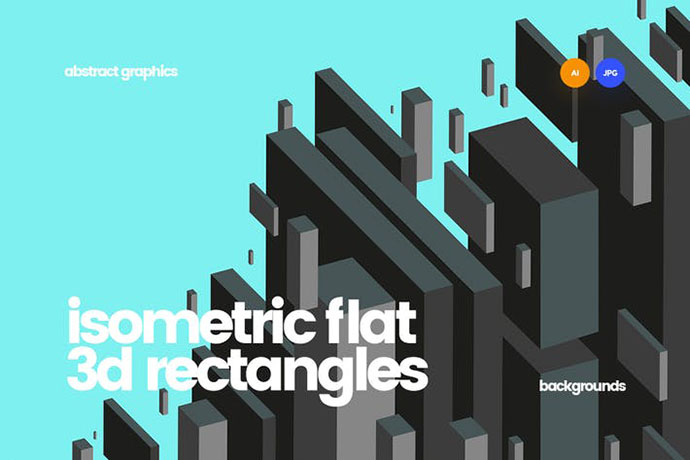 Isometric Flat 3d Rectangles Backgrounds