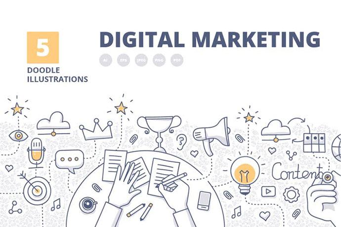 5 Digital Marketing Banner Concepts