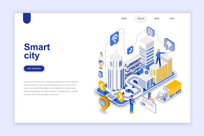 Smart City Isometric Landing Page