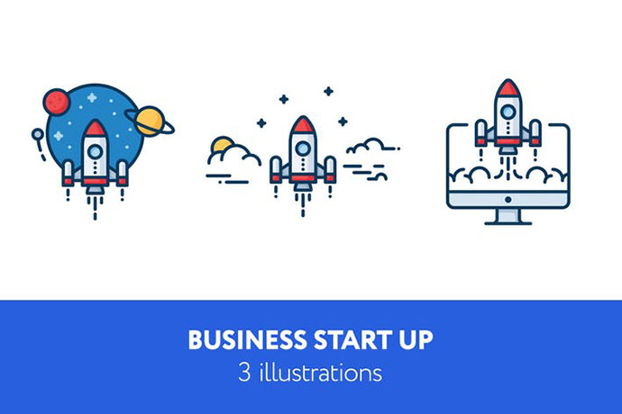 Business start up illustrations