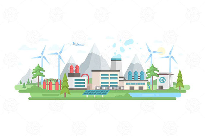 Eco-friendly plant - flat design illustration