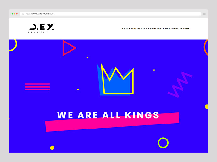 D.ex - Multilayer Parallax WordPress Plugin