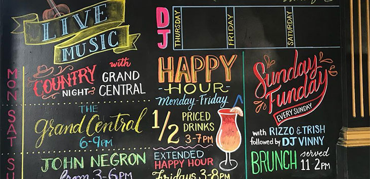 29 Amazing Chalkboard Restaurant Menu Designs