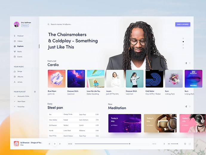 Music Ui Desktop Design
