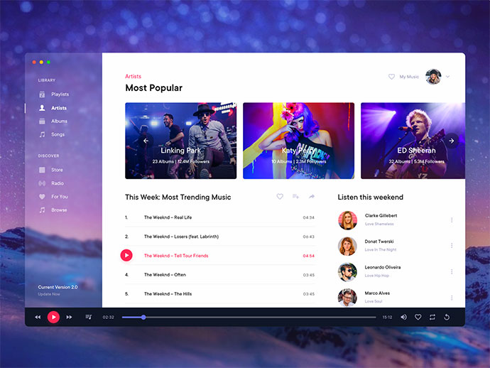 Music Player Desktop Application - 1