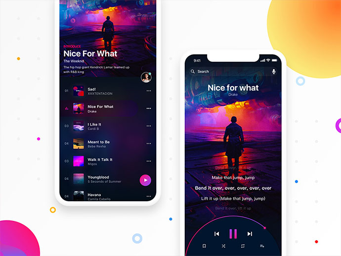 50 Awesome Music & Video Player UI Designs – Bashooka