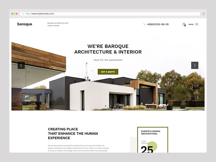 Baroque - Architecture & Interior WordPress Theme