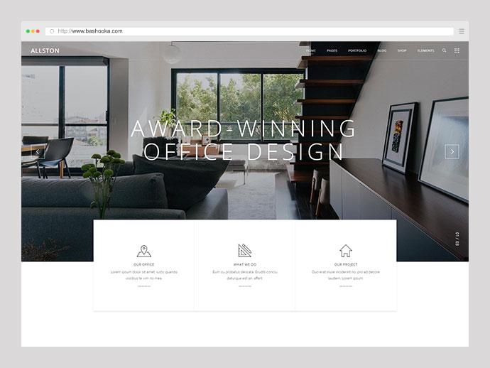 Allston - Contemporary Theme for Interior Design and Architecture