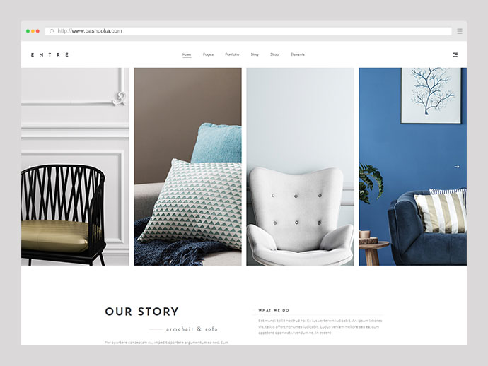 Entre - An Elegant Interior Design and Decor WordPress Theme