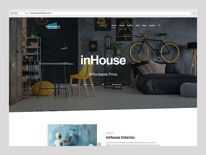 Inhousekai | Modern Design Interior WordPress Theme